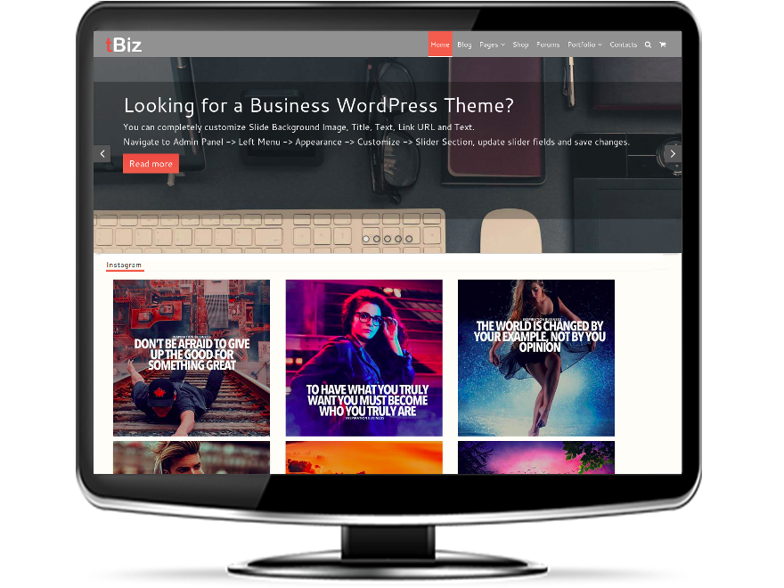 tBiz - Business WordPress Theme