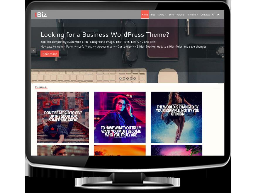 tBiz - Business WordPress Theme