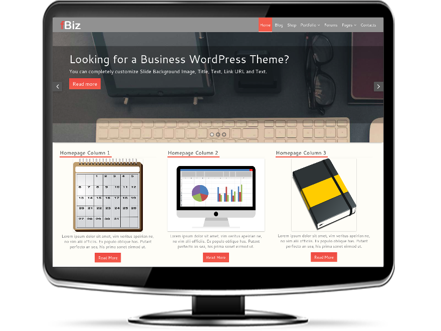 fBiz - Free Business WordPress Theme