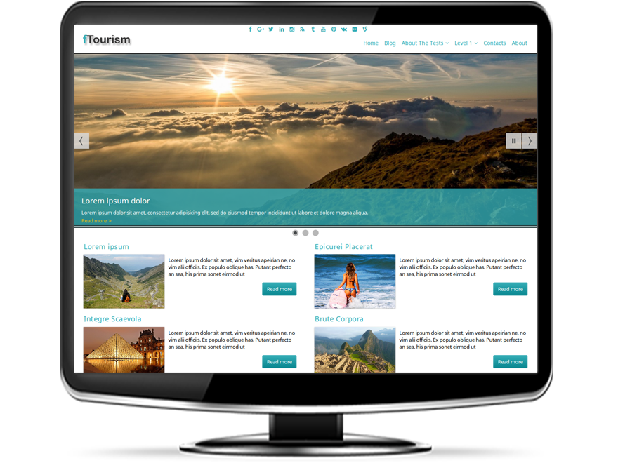 fTourism - Responsive Tourism WordPress Theme