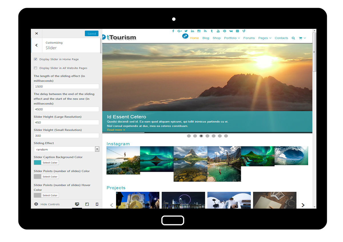 tTourism Customize Slider