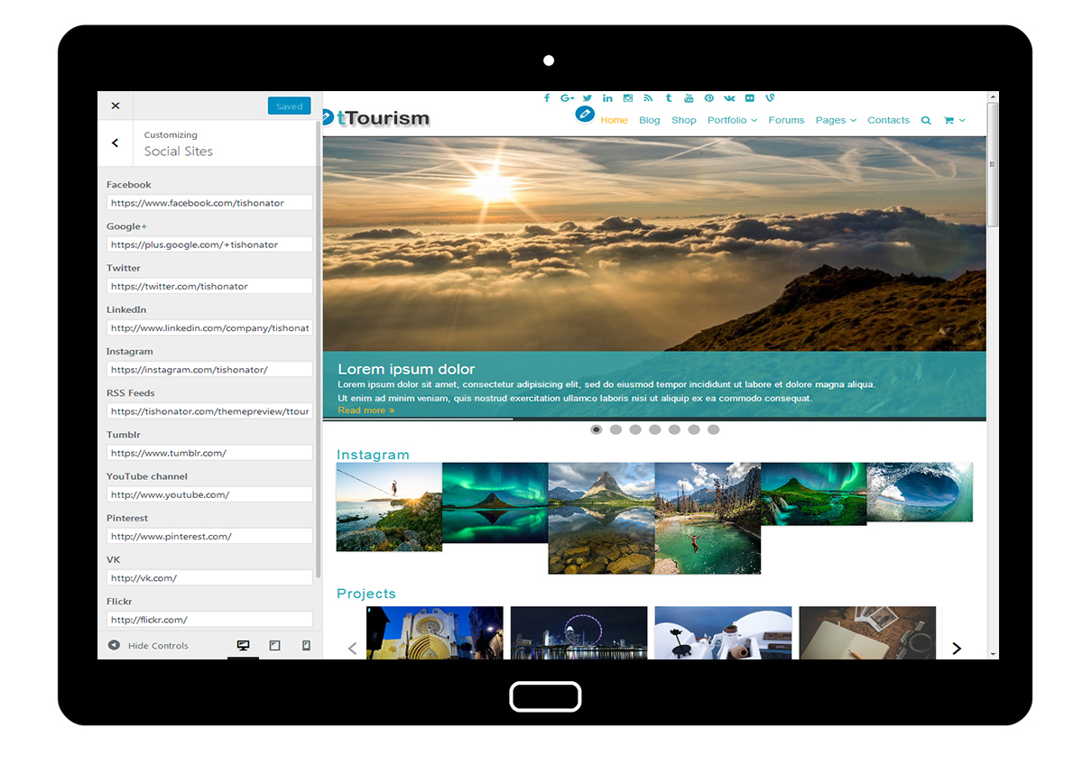 tTourism Customize Social Sites