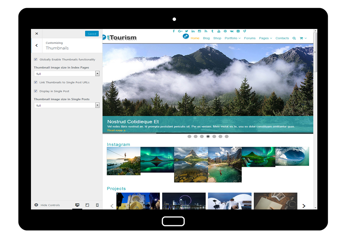 tTourism Customize Thumbnails