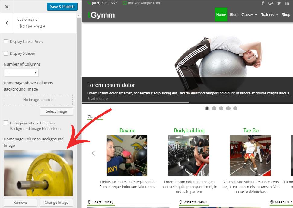 Homepage Columns Background Image