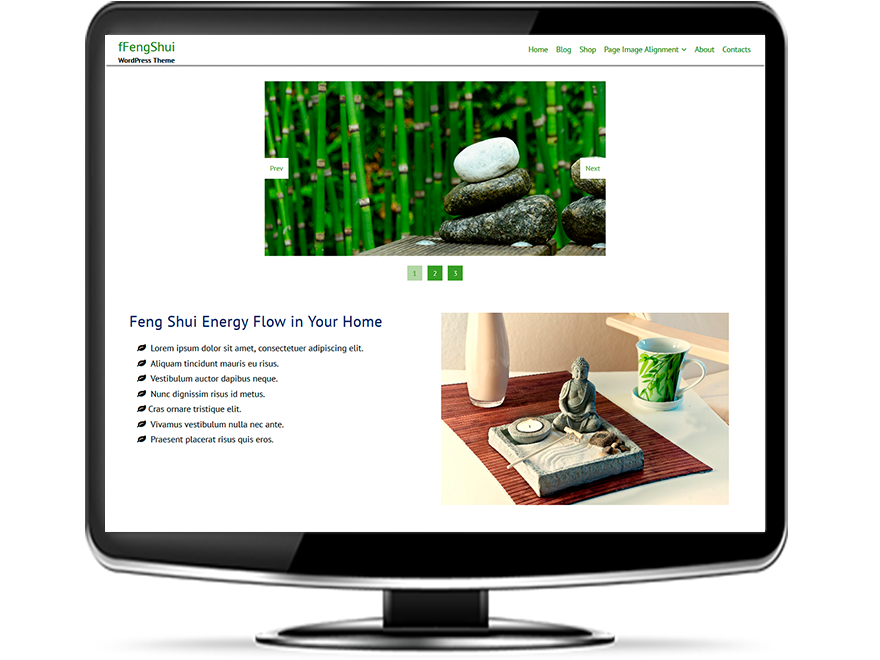 fFengShui - Free Feng Shui WordPress Theme