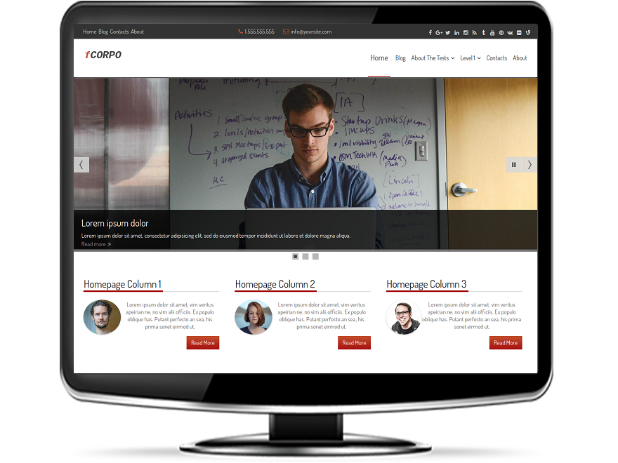 fCorpo - Free Corporate WordPress Theme