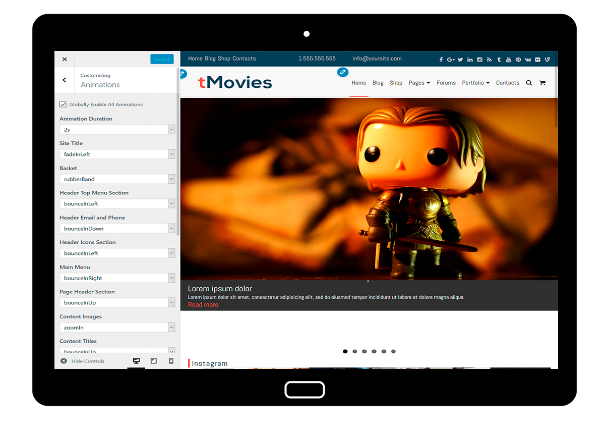 tMovies Customize: Animations