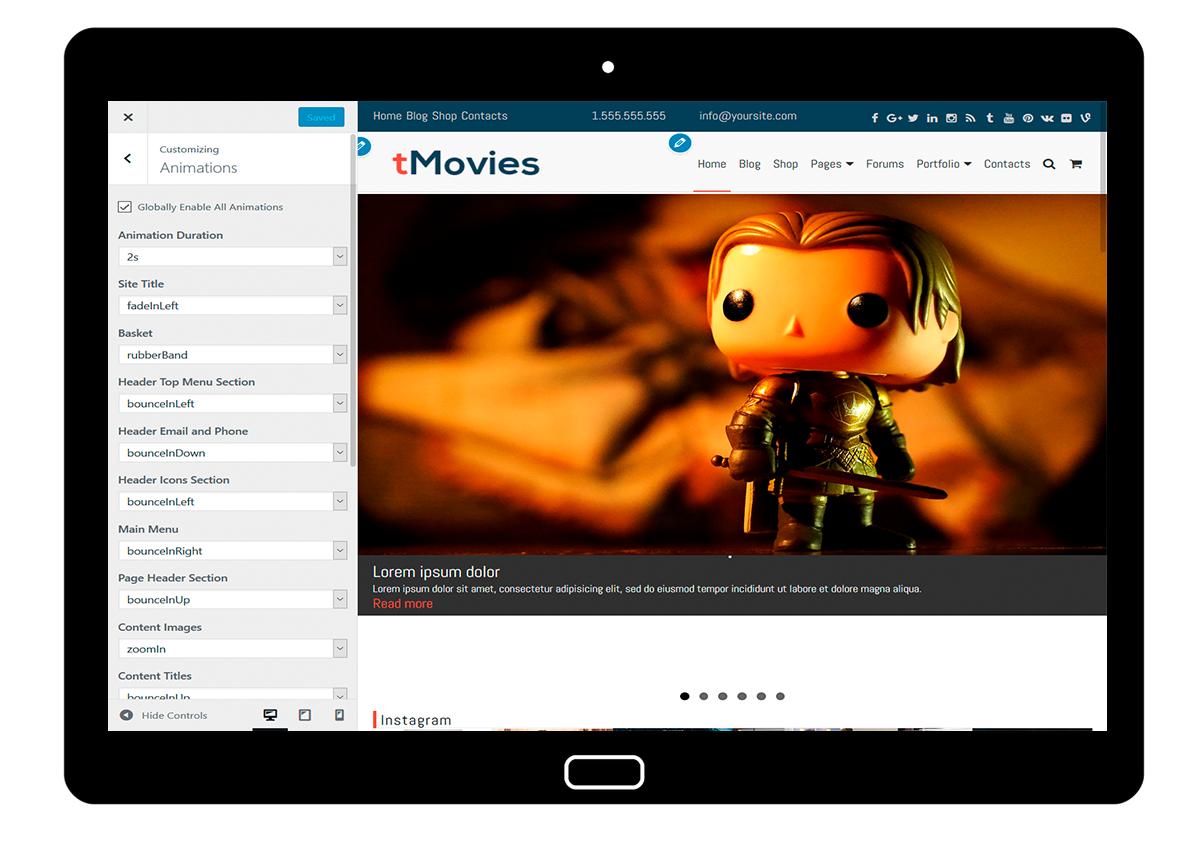 tMovies Customize: Animations