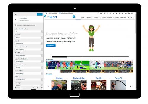 tSport Customize: Animations