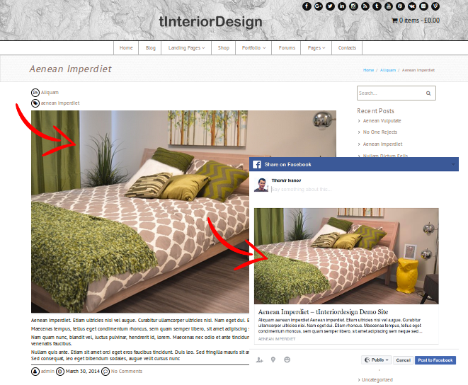How to Set Post Thumbnail as Default Preview Image for Facebook