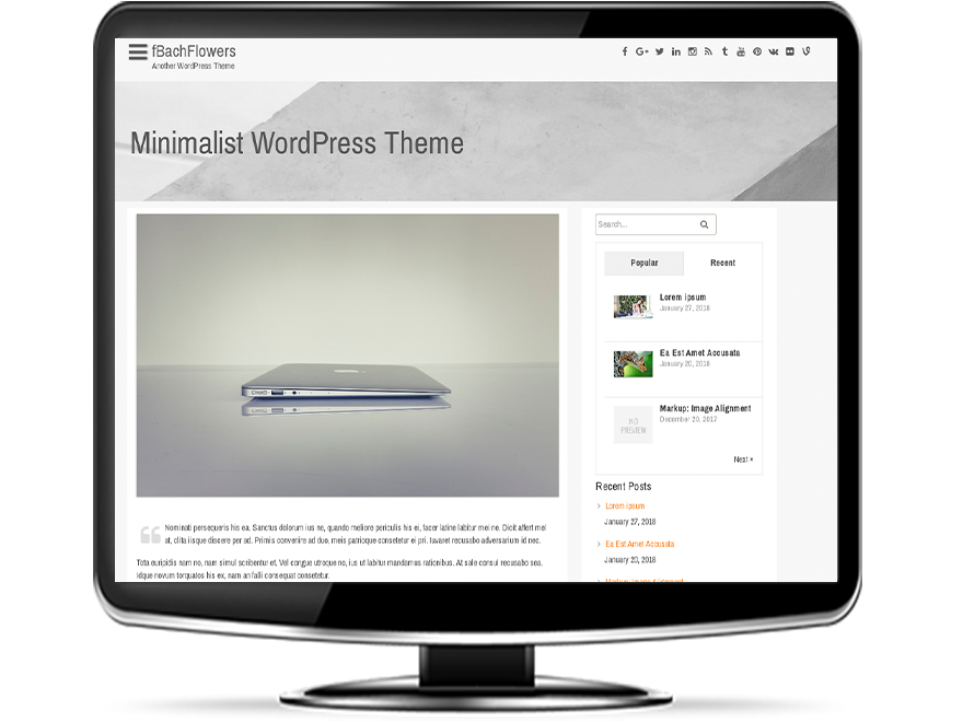 fBachFlowers - Free Minimalist WordPress Theme