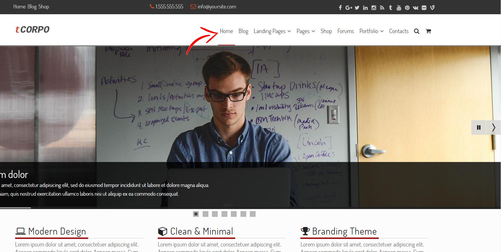 Add Homepage to WordPress Menu