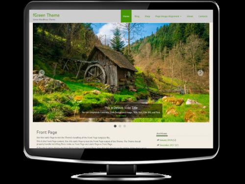 fGreen - Free Green WordPress Theme