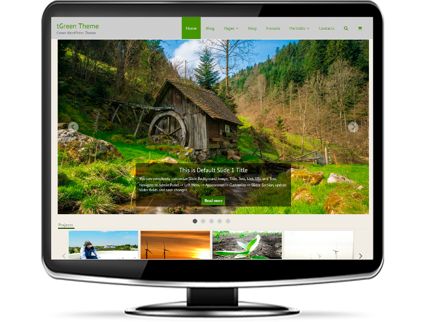 tGreen - Responsive Green WordPress Theme