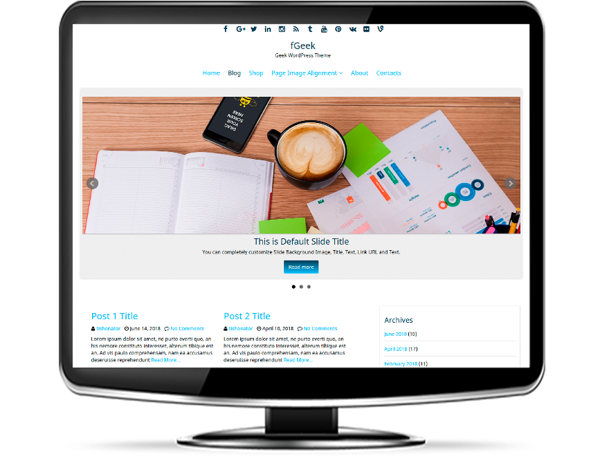 fGeek - Geek WordPress Theme