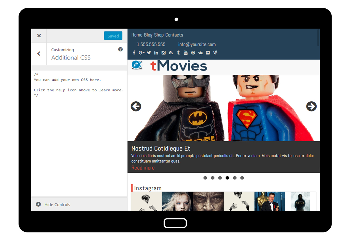 tMovies Customizer: Additional CSS