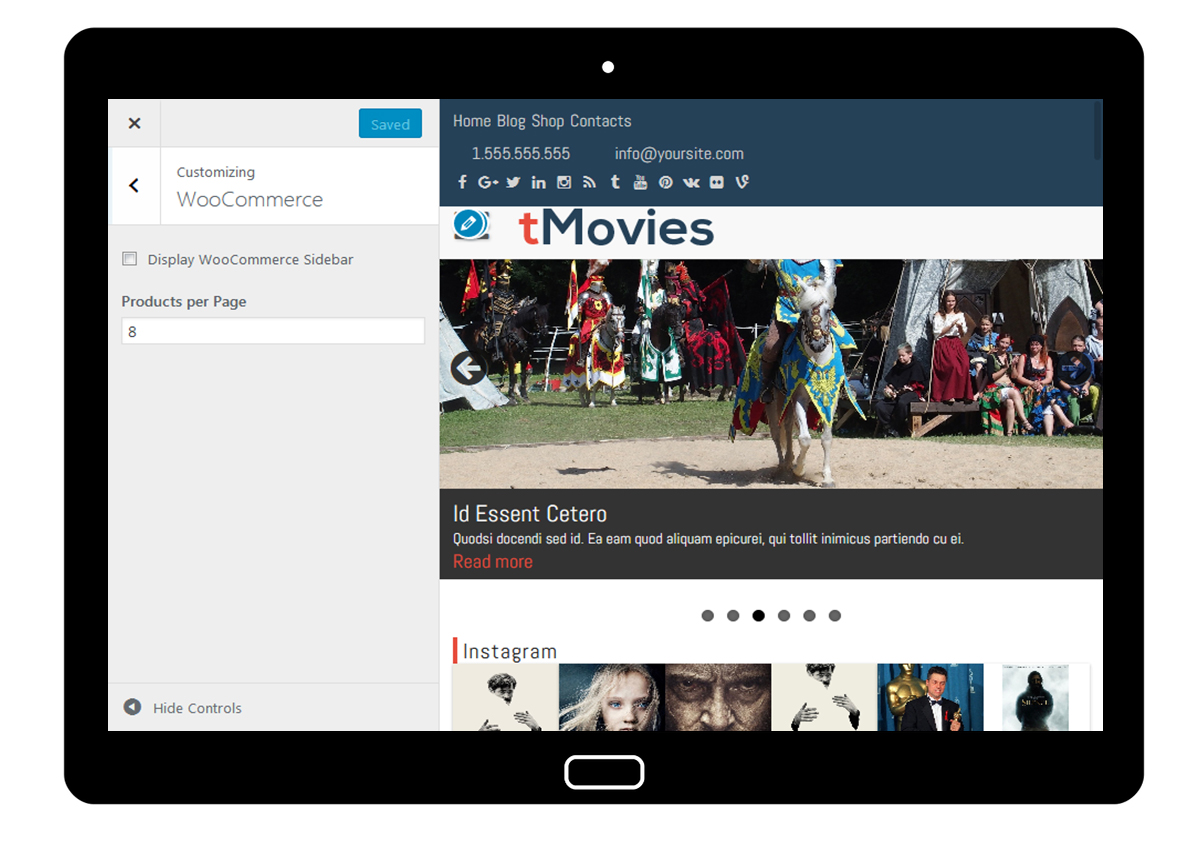 tMovies Customizer: WooCommerce
