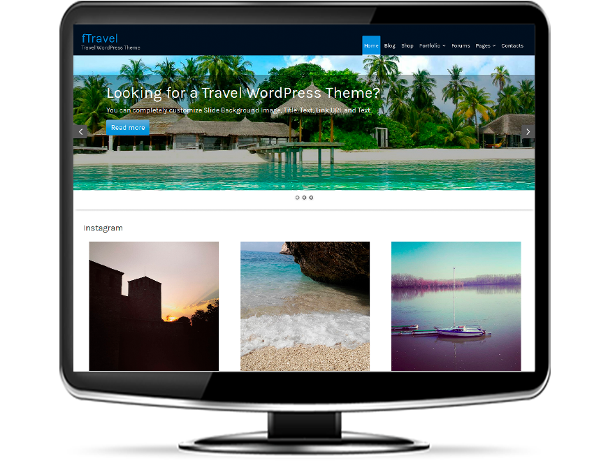 fTravel - Free Tourism WordPress Theme