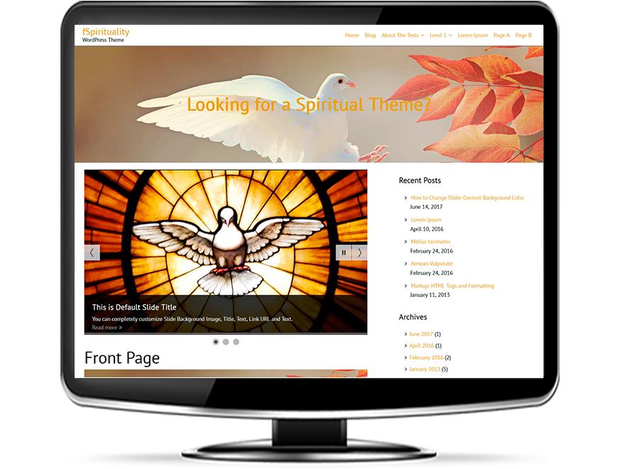 fSpirituality - Free Spiritual WordPress Theme