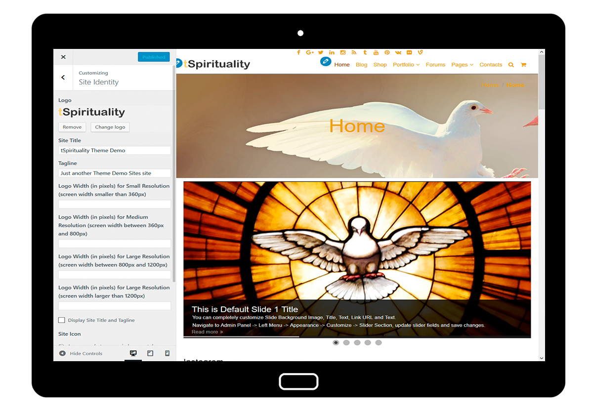 tSpirituality Customizing: SiteIdentity