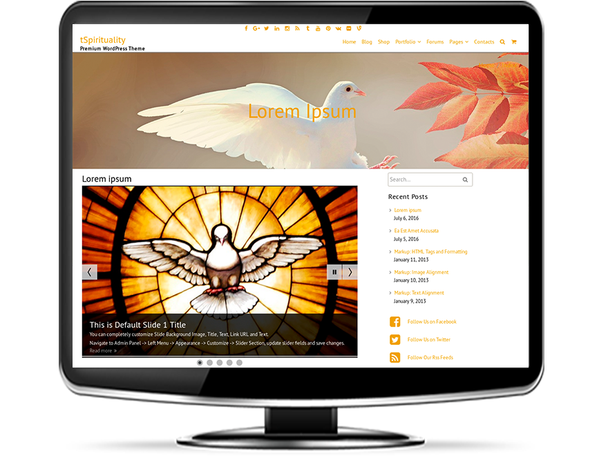 tSpirituality - Spiritual WordPress Theme