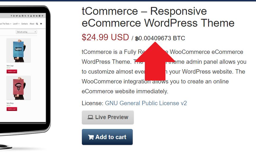 How To Display Bitcoin Price In Woocommerce