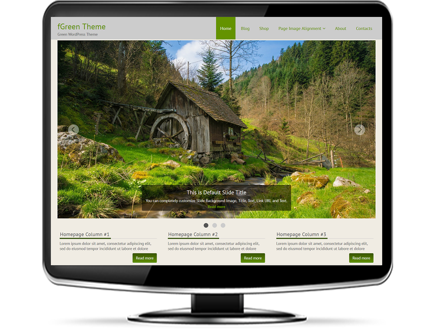 fGreen - Free Green WordPress Theme