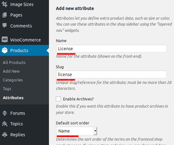 add new attribute