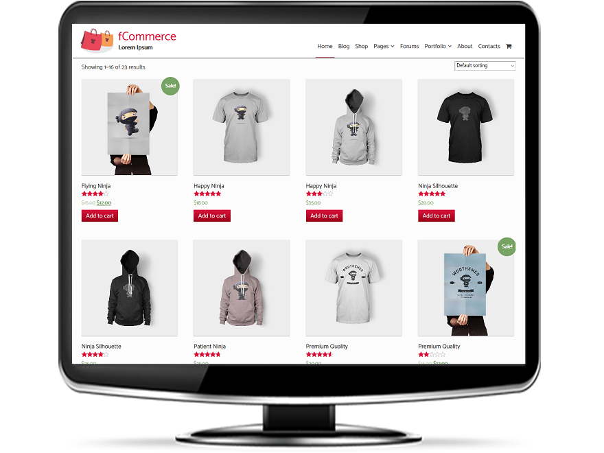 fCommerce - Free eCommerce WordPress Themes