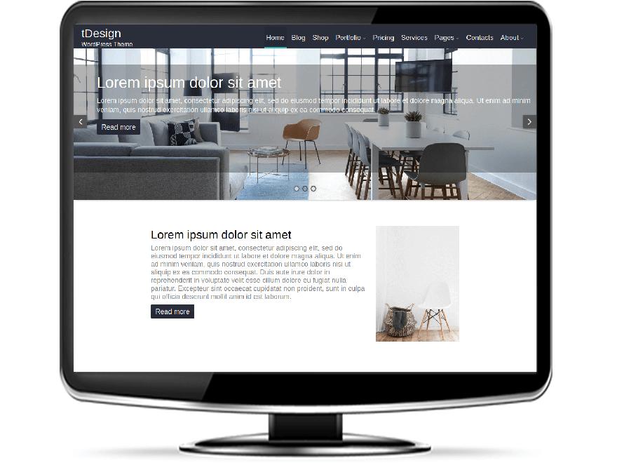 fDesign - Free Design WordPress Theme