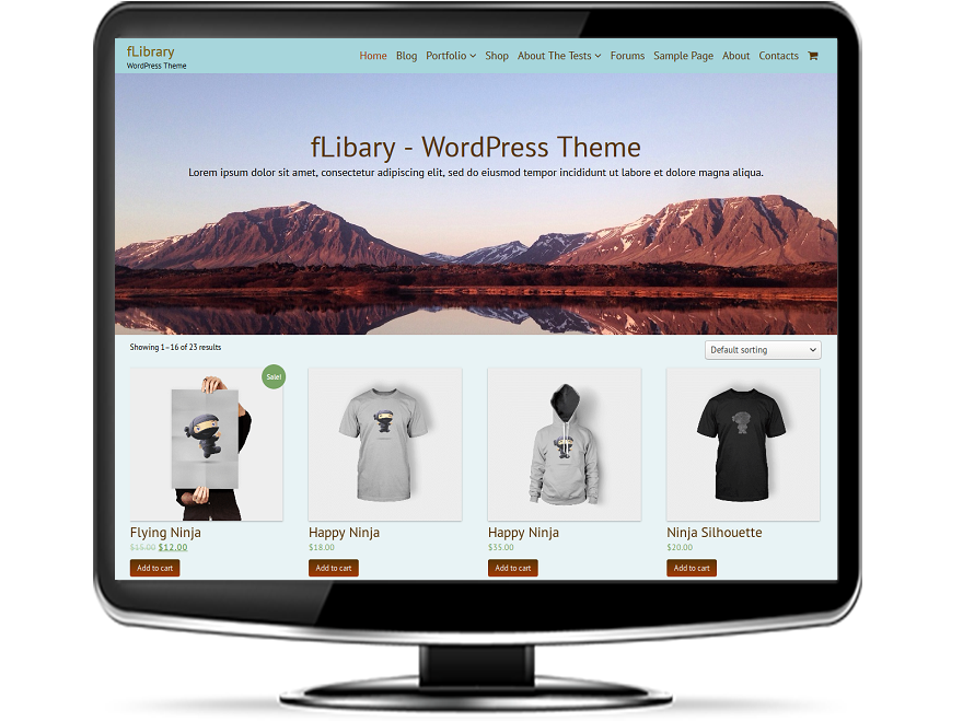 fLibrary - Free Library WordPress Theme