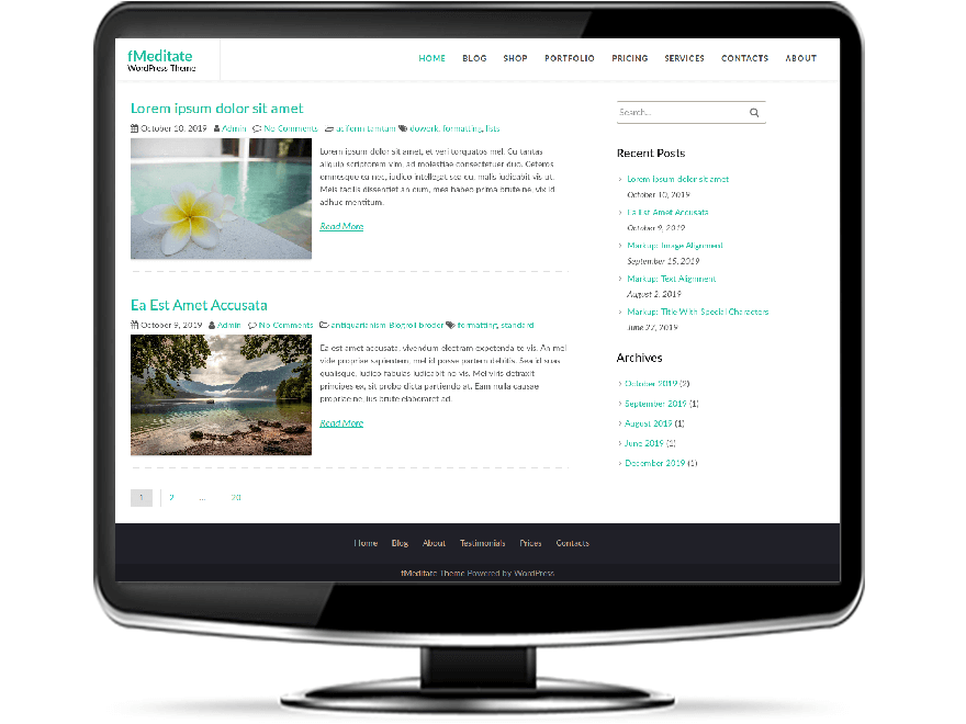 fMeditate - Free Meditate WordPress Theme