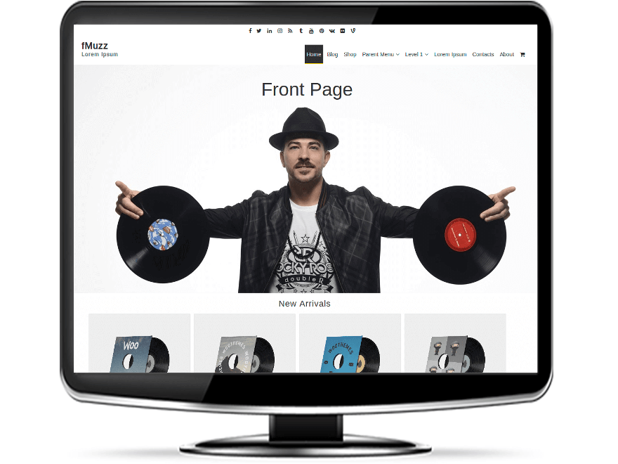 fMuzz - Free Music WordPress Theme