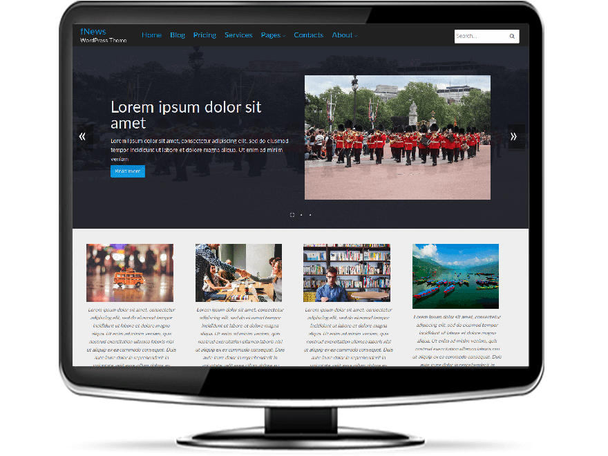 fNews - Free News WordPress Theme