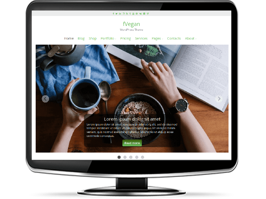 fVegan - Free Vegan WordPress Theme