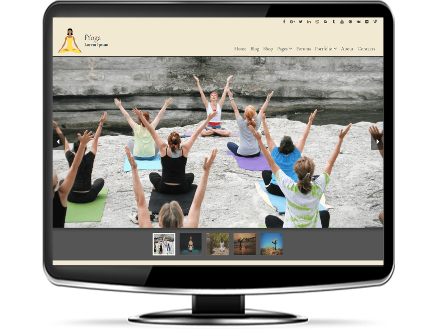 fYoga - Free Yoga WordPress Theme