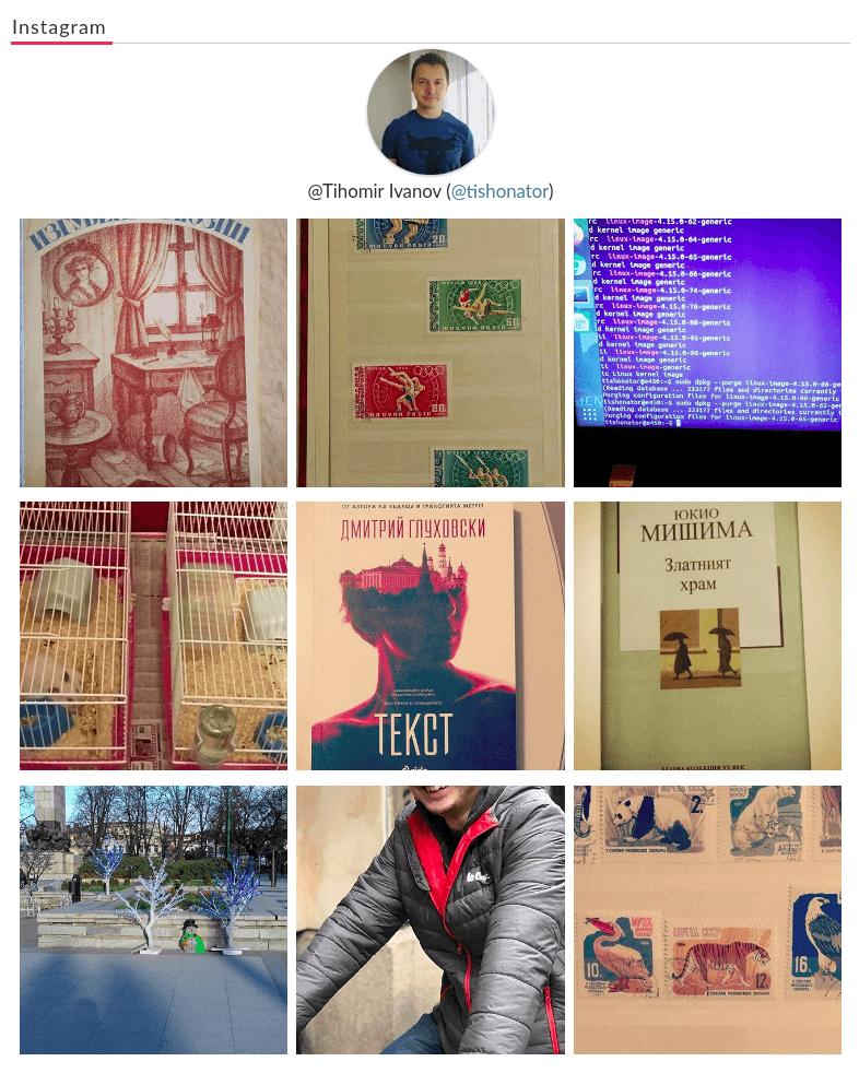 Instagram Widget Display