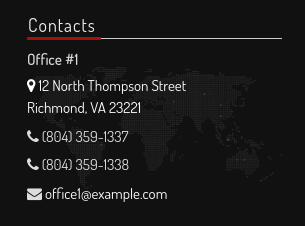 Offices Contacts Widget