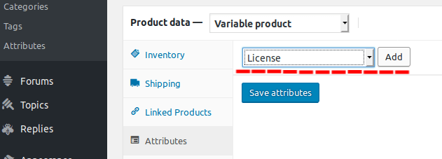 select License type