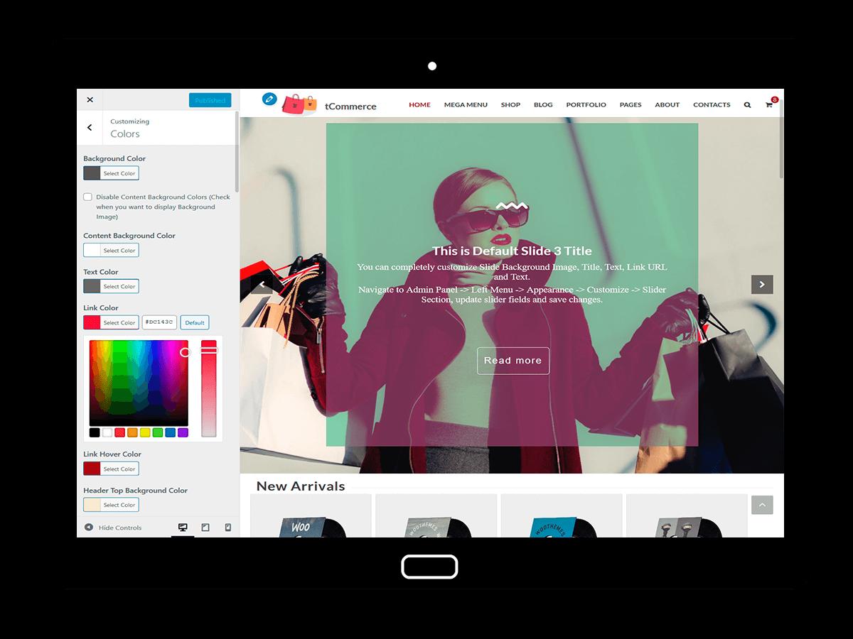 tCommerce Customizing Colors