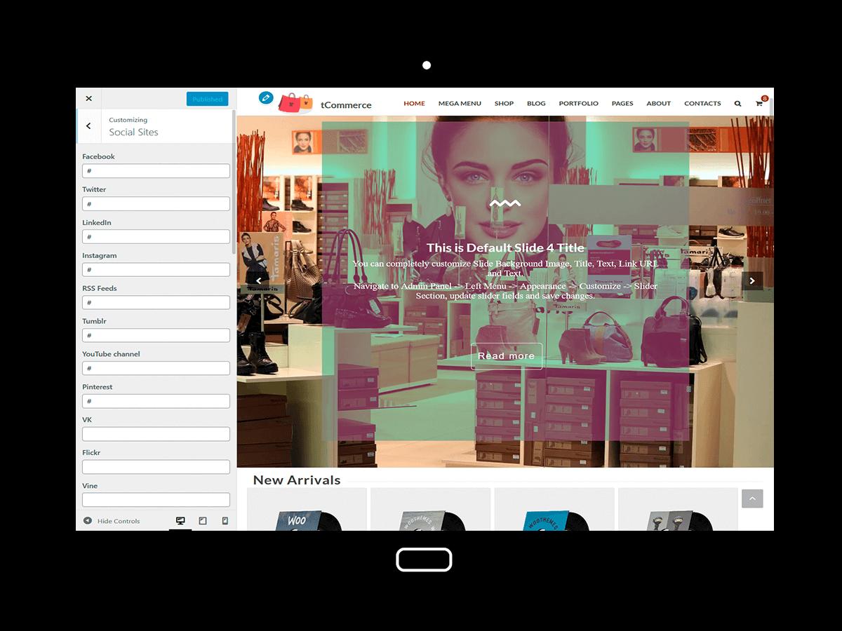 tCommerce Customizing Social sites