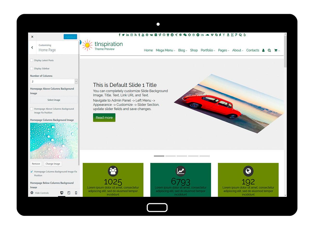 tInspiration Customizing Homepage