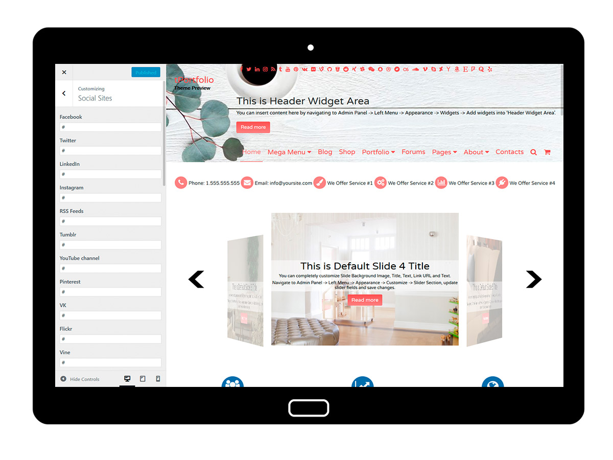 tPortfolio Customizing Social Sites