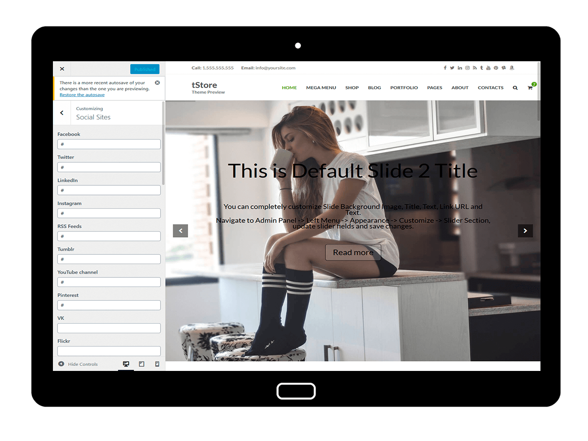 tStore Customizing Social Sites