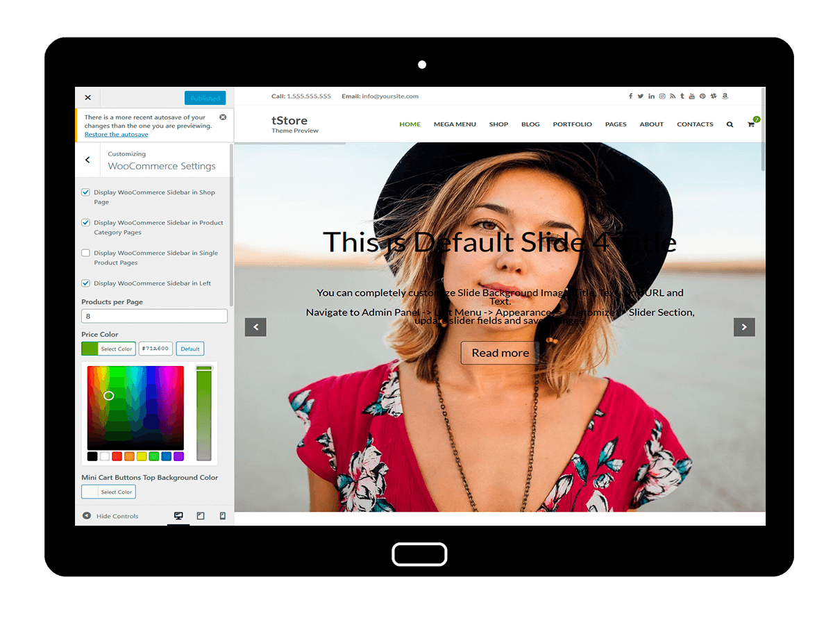 tStore Customizing WooCommerce Settings