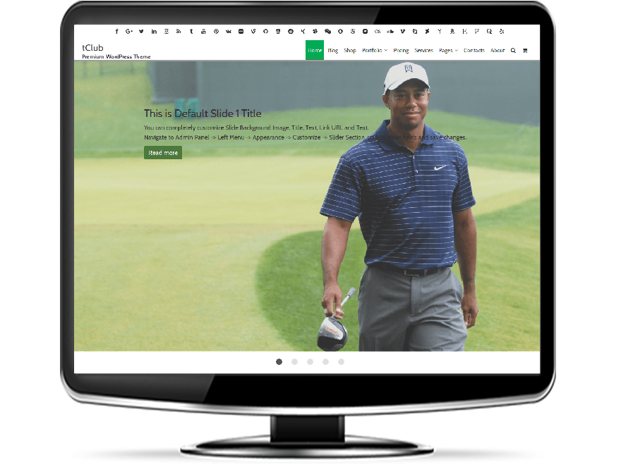 tClub - Premium Golf Club WordPress Theme