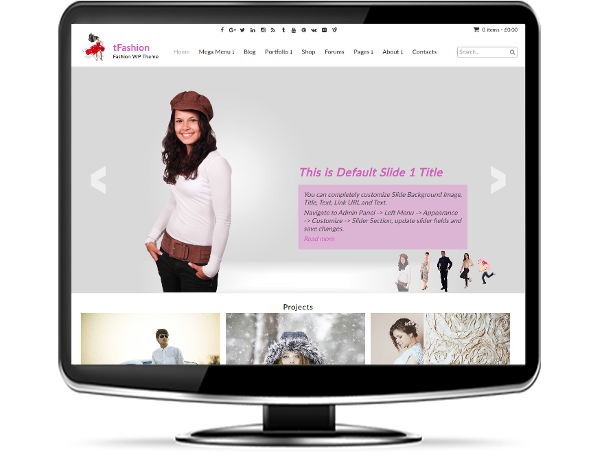 tFashion - Fashion WordPress Theme