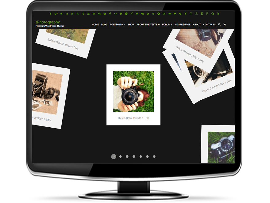 tPhotography - Responsive Photography WordPress Theme