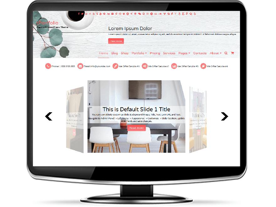 tPortfolio - Responsive Portfolio WordPress Theme