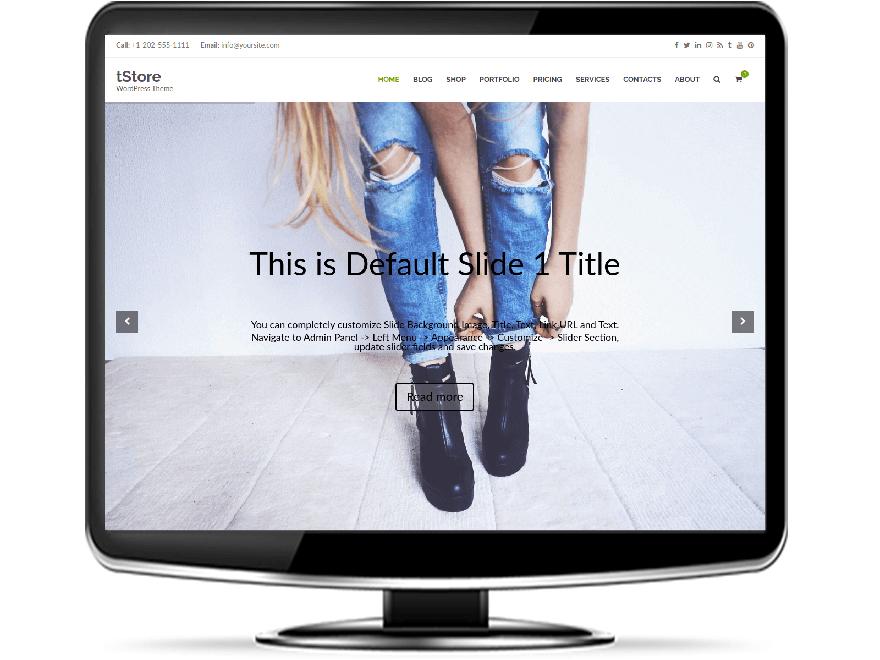 tStore - Responsive e-Commerce WordPress Theme